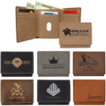Trifold Leatherette Wallet  Frames and Gifts