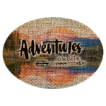 Burlap Oval Sublimatable Patch with Adhesive  Full Color Novelties