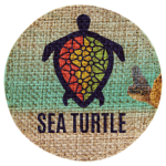 Burlap Circle Sublimatable Patch with Adhesive   Full Color Novelties