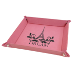 Pink Laserable Leatherette Snap Up Tray with Silver Snaps   Gift Items