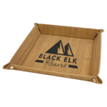 Bamboo Laserable Leatherette Snap Up Tray with Silver Snaps    Gift Items