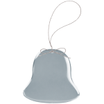 Bell Clear Glass Ornament with Silver String Gift Items