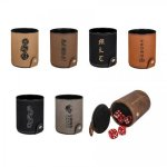 Leatherette Dice Cup with 5 Dice Gift Sets