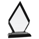 A New Item! Diamond Black Regal Glass Award Glass Awards