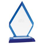 A New Item! Diamond Blue Regal Glass Award  Glass Awards