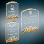 Horizon Acrylic Award - Gold Gold Colored Acrylic Awards