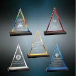 Triangle Impress Acrylic Gold Colored Acrylic Awards