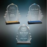 Faceted Impress Acrylic Gold Colored Acrylic Awards