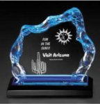 Glacier Series - Blue, Gold, or Silver Gold Colored Acrylic Awards