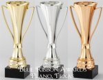 Contemporary Loving Cup in Gold, Silver and Bronze  Gold Trophy Cups