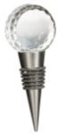 Crystal Golf Ball Wine Stopper Golf Gift and Desk Items