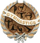 Gymnastics Plaque with Full Color Mount Gymnastics Award Trophies