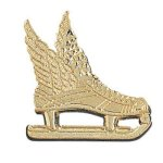 Winged Ice Skate -  Chenille Pin Hockey Medals