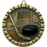 Hockey - 3-D Medallion Hockey Medals
