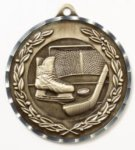 Diamond Cut Medal - Hockey Hockey Medals