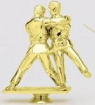 Double Action Judo - Male on Round Base Karate, Martial Arts and Boxing Award Trophies