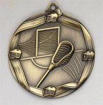 Lacrosse - Ribbon Medallion Lacrosse Award Trophies
