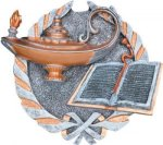 Lamp of Knowledge Plaque with Full Color Mount Lamp of Knowledge Awards