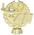 Wreath Lamp of Knowledge on Round Base Lamp of Knowledge Awards