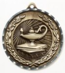 Diamond Cut Medal - Lamp of Knowledge Lamp of Knowledge Awards