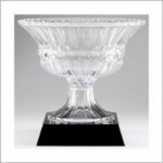 Crystal Roman Bowl on Black Crystal Base Loving Cup and Vase Awards