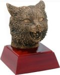 Wildcat - Gold Mascot Resin Mascot Awards and Trophies