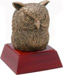 Owl - Gold Mascot Resin Mascot Awards and Trophies