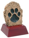 Paw Print - Gold Mascot Resin Mascot Awards and Trophies