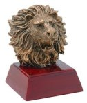Lion - Gold Mascot Resin Mascot Awards and Trophies