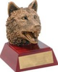 Wolf - Gold Mascot Resin Mascot Awards and Trophies