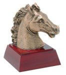 Horse/Mustang/Bronco - Gold Mascot Resin Mascot Awards and Trophies