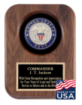 American Tribute Series Walnut Plaque - Navy Medallion Recognition Plaques