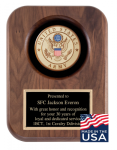 American Tribute Series Walnut Plaque - Army Medallion Recognition Plaques