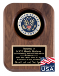American Tribute Series Walnut Plaque - Air Force Medallion Recognition Plaques