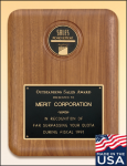 American Walnut Plaque with Medallion Medallion Recognition Plaques