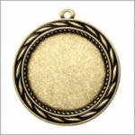 Economy Wreath Medal with Custom Disc - Antique Finish - 2.75   Medals | Custom Disc
