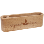 Beech Wood Business Card and Pen Holder Misc Items