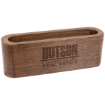 Walnut Wood Business Card Holder Misc Items