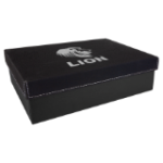 Gift Box with Leatherette Lid - Black/Silver Misc Items