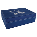 Premium Leatherette Gift Box - Blue/Silver   Misc Items