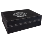 Premium Leatherette Gift Box - Black/Silver Misc Items