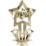 Star Music Figure on Round Base Music Award Trophies