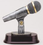 Microphone - Silver Sculpture Resin Music Award Trophies