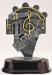 Music - Silver Sculpture Resin Music Award Trophies