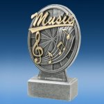 Music - Pinwheel Script Resin Music Award Trophies