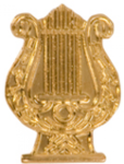 Music Lyre - Chenille Pin Music Awards and Medals