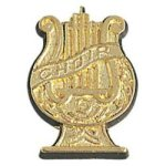 Choir Lyre - Chenille Pin Music Awards and Medals