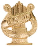 Band Lyre - Chenille Pin Music Awards and Medals