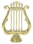 Music Lyre on Round Base Music Awards and Medals