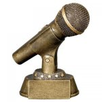 Microphone Resin Award Music Awards and Medals